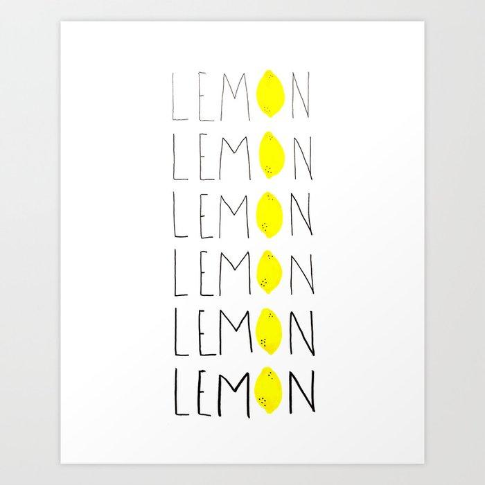 LEMON Art Print
