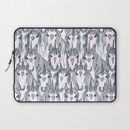 unicorn love navy orchid Laptop Sleeve