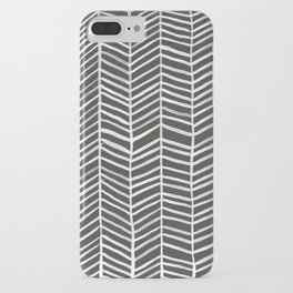 Herringbone – Black & White iPhone Case