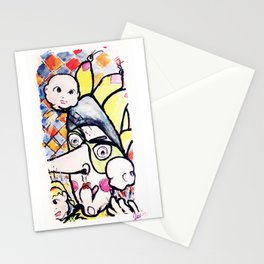 Creepy King's fool Stationery Cards