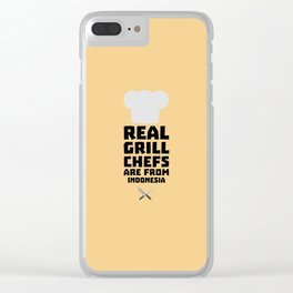 Real Grill Chefs are from Indonesia T-Shirt Dz24t Clear iPhone Case