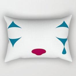 Minimalist Clown Makeup Rectangular Pillow