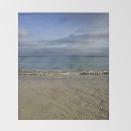 Patterns in the Sand with Blue Skies Above Throw Blanket
