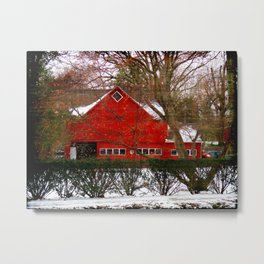 Red Barn Cir.1820 Metal Print