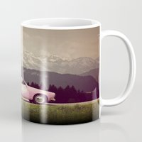 never stop exploring Mugs featuring NEVER STOP EXPLORING VII by Monika Strigel
