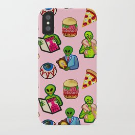 Pick and Mix of Bad Aliens iPhone Case