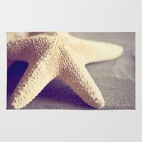 starfish Area & Throw Rugs featuring Starfish by Dena Brender Photography