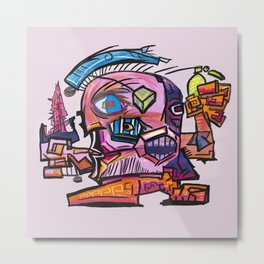 Hector, the Cubist Assassin Metal Print