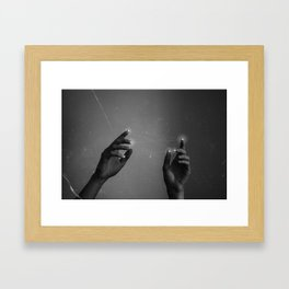 to catch a star on your fingertips Framed Art Print