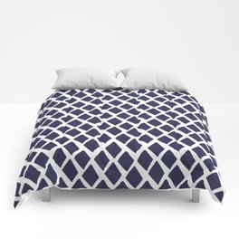 Rhombus Blue And White Comforters