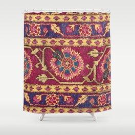 Mughal North Indian Late 17th Century Silk Carpet Print Shower Curtain