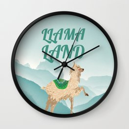 Llama Land Wall Clock