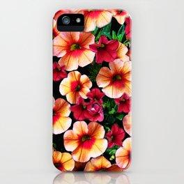 Flower Peach Petunia iPhone Case