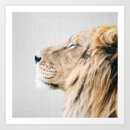 Lion Portrait - Colorful Art Print