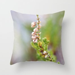 Pink heather Throw Pillow