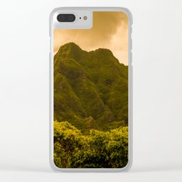 Dream of cliffs Clear iPhone Case
