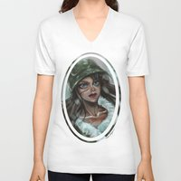 winter soldier V-neck T-shirts featuring Winter Soldier by Soggykitten™