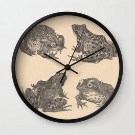 Naturalist Frogs Wall Clock