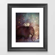 Riding through the Night Framed Art Print