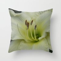 lily Throw Pillows featuring Lily by IowaShots