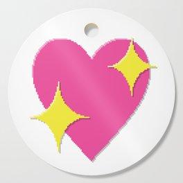 Sparkling Heart Cutting Board