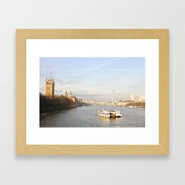 The parliament and the eye Framed Art Print