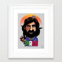 pirlo Framed Art Prints featuring Brazil 14: Pirlo by Robin Gundersen