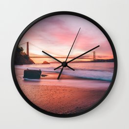 Washed-up Treasure Chest at Kirby Cove - San Francisco, California Wall Clock
