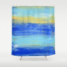 Relaxing Beach Aqua Turquiose Nautical Abstract Art Shower Curtain