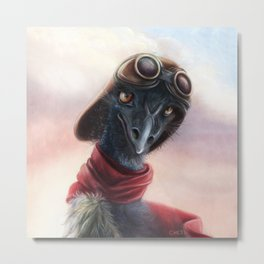 Queen Bess Emu Metal Print
