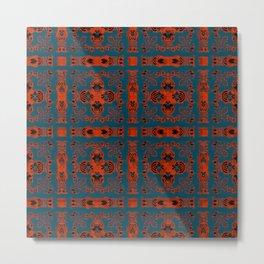 Digital Embroidery Vintage Celtic Geometric Texture Print Metal Print