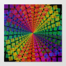 Colorful mosaic pattern design artwork- colorful christmas gifts- pixel art Canvas Print