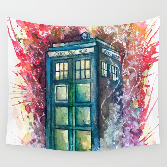 Doctor Who Tardis Wall Tapestry