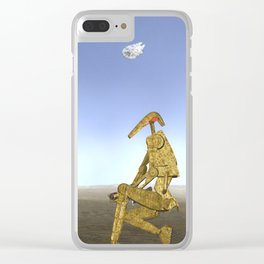 War Stars: Golden One Clear iPhone Case