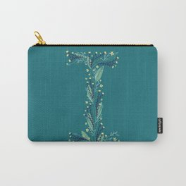 Turquoise flowers alphabet I Carry-All Pouch