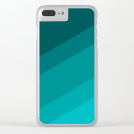 Colorblock in Turquoise Clear iPhone Case