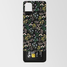 Spring Bloom Black Android Card Case
