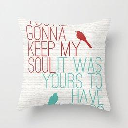 Keepsake - State Radio Lyrics Throw Pillow
