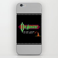 castlevania iPhone & iPod Skins featuring Castlevania - Die Monster. You Don't Belong In This World! by Aaron Campbell