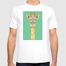 Giraffe White Mens Fitted Tee MEDIUM
