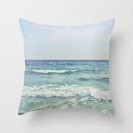 Ocean Crashing Waves Throw Pillow