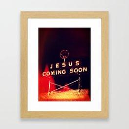 Jesus Coming Soon Framed Art Print