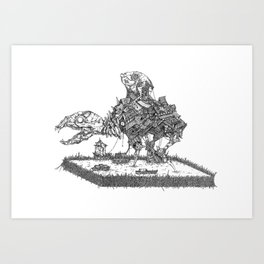 Commentary on Fountains, Amphibians, and Precarious Architectural Triumphs Art Print