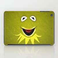 kermit iPad Cases featuring Kermit The Frog by DisPrints