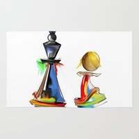 chess Area & Throw Rugs featuring chess by tatiana-teni