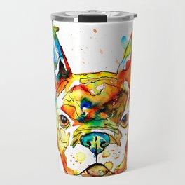 Colorful french bulldog Travel Mug