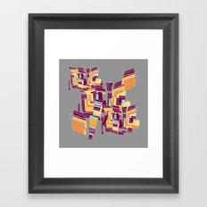 Everyday Mistakes on Gray Framed Art Print