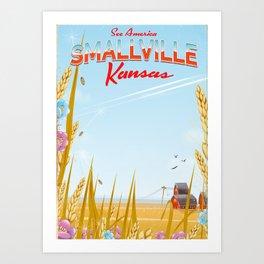 Smallville Kansas retro Travel poster Art Print