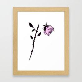 Beheaded Rose Framed Art Print