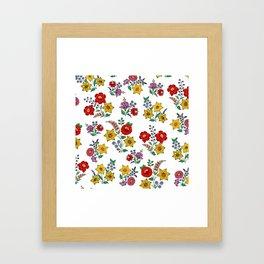 Hungarian floral repeat 1 Framed Art Print